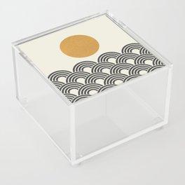 Sun & Wave - Oriental Pattern Acrylic Box