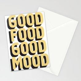 GOOD FOOD GOOD MOOD Stationery Cards