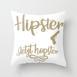 a hipster leg shot got into. hopster now Throw Pillow