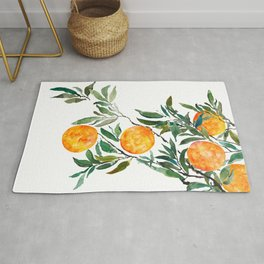 orange watercolor Rug