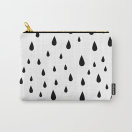 Black Raindrops pattern Carry-All Pouch