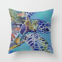 Honu Kauai Sea Turtle Throw Pillow