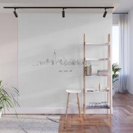 New York City Skyline Drawing Wall Mural