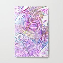Ultraviolet Banana Leaves Metal Print