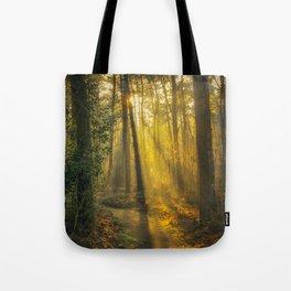 Woodland Sunburst Tote Bag