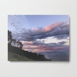 Pink clouds during sunset Metal Print
