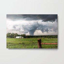 Siren - Large Tornado In Texas Panhandle Metal Print