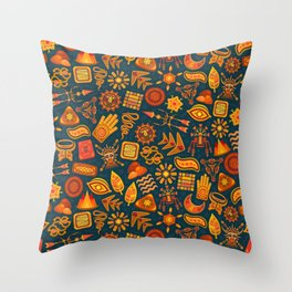 africa design patterns illustration tribal and carnival Throw Pillow
