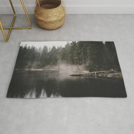 In the Fog - Landscape Photography Rug