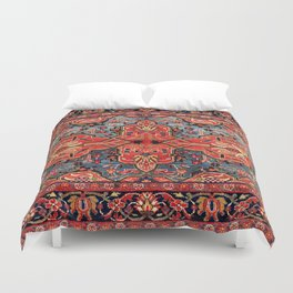 Kashan Poshti Central Persian Rug Print Duvet Cover