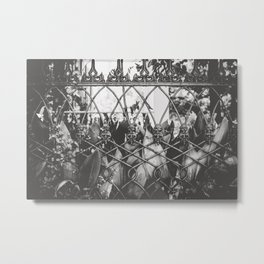 Skull Fence of New Orleans Metal Print