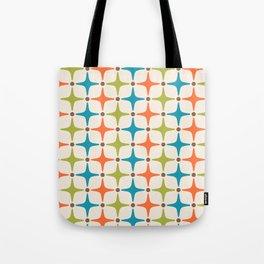 Mid Century Modern Star Pattern 821 Tote Bag
