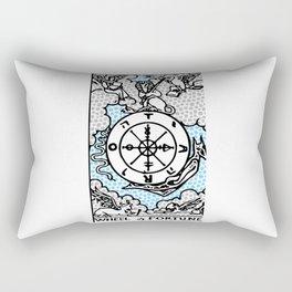 Modern Tarot Design - 10 Wheel of Fortune Rectangular Pillow