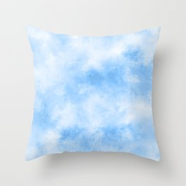 Abstract Cloudy Blue Sky Throw Pillow