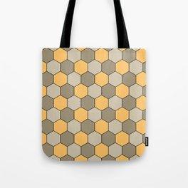 Honeycombs op art beige Tote Bag