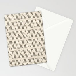 Modern Mudcloth 3, Black on Cream Stationery Cards