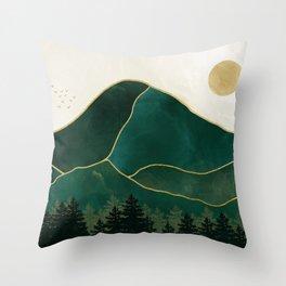 Mt Hood Emerald Mountain Abstract Throw Pillow