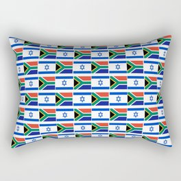 Mix of flag : Israel and south africa Rectangular Pillow