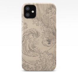 Wave by Katsushika Hokusai 1760–1849, Japanese iPhone Case