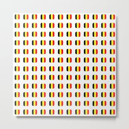 Flag of belgium with soft square Metal Print