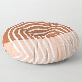 Mid Century Modern Geometric 2 Floor Pillow