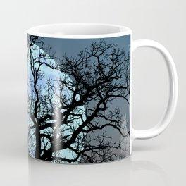 Tree Blue Moon Midnight Blue Sky Cottage Decor Art A474 Coffee Mug