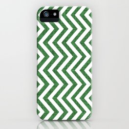 Canadian Wildlife Chevron Emerald iPhone Case