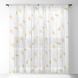 Martinis + Champagne Sheer Curtain