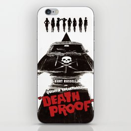 Death Proof Movie Poster Written And Directed By Quentin Tarantino Spanish Version Artwork, Posters, iPhone Skin
