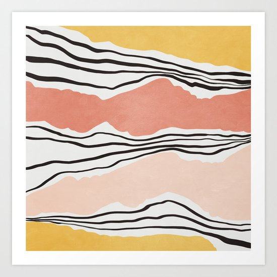 Modern irregular Stripes 01 by vivigonzalezart