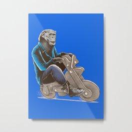 Happy Chimp Metal Print