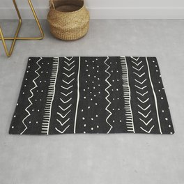 Moroccan Stripe in Black and White Rug