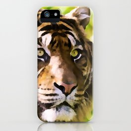 Malayan Tiger | Watercolor Painting iPhone Case