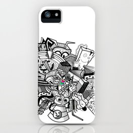 Abstract Combination Crazy Cartoons iPhone Case