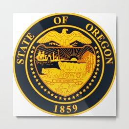 State of Oregon seal Metal Print