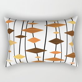 Retro Atomic Age Art Diamonds 5 Rectangular Pillow