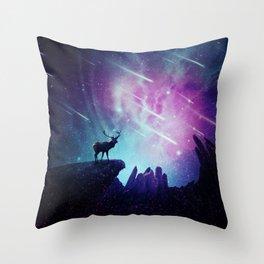 Majestic dear Throw Pillow