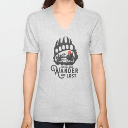 Not all who wander are lost - Wanderlust Unisex V-Neck