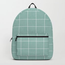 Small Grid Pattern - Light Blue Backpack