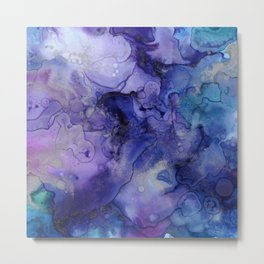 Colorful Watercolor 3D Painting Metal Print