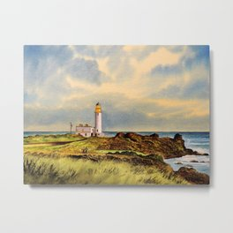 Turnberry Golf Course Scotland 9th Tee Metal Print