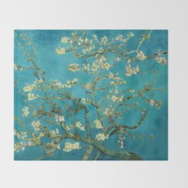 Vincent Van Gogh Blossoming Almond Tree Throw Blanket