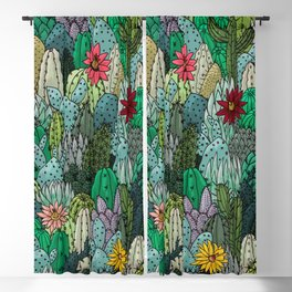 Cactus Collection Blackout Curtain