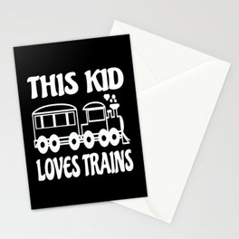 This Kid Loves Trains Kids Gift Idea Design Stationery Cards