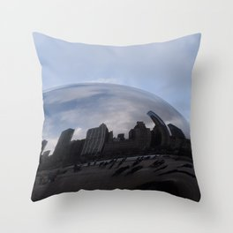 Cloud gate at Chicago Throw Pillow
