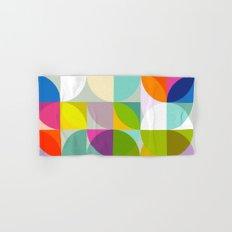 mid century geometry vibrant colors Hand & Bath Towel