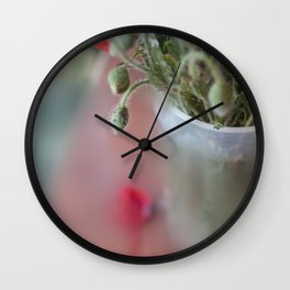 Poppie detail Wall Clock