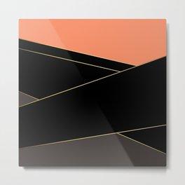 Angelica . Coral , black , brown Metal Print