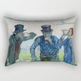 Vincent van Gogh - The Drinkers, after Daumier Rectangular Pillow