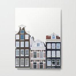 Holland Homes - Amsterdam Travel Photography Metal Print